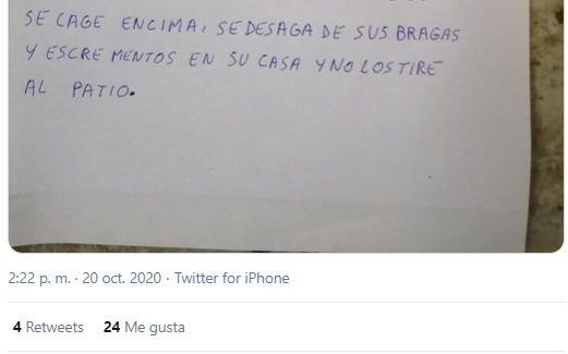 Captura del tuit en el que se ha compartido el