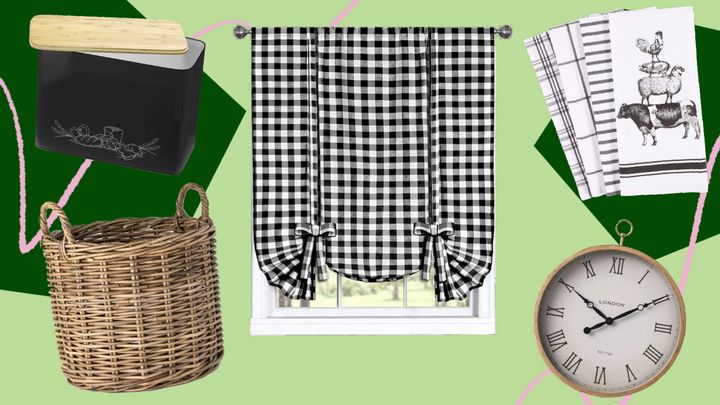 Consider adding gingham, plaid, wicker and wood to get the cottagecore style.