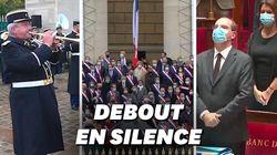 Plus de 300 députés ont rendu un hommage silencieux à Samuel Paty devant