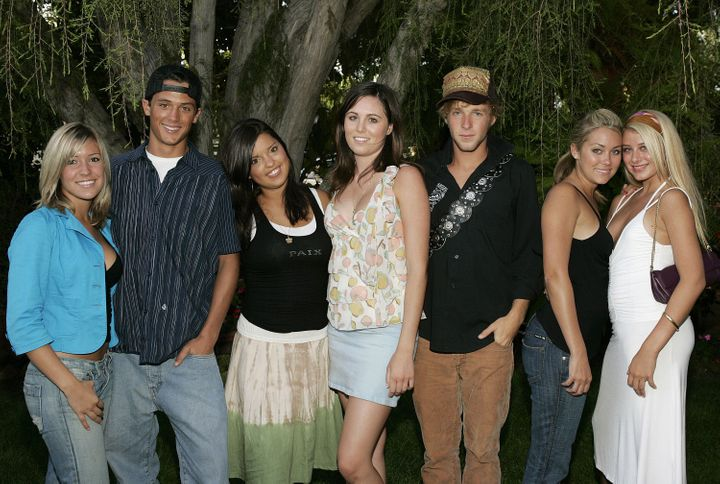 "Kristin Cavallari, Stephen Colletti, Lauren Conrad and other cast members of MTV's ""Laguna Beach: The Real Orange County.""&nb"