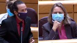 Pablo Iglesias desmonta el ataque de una senadora del PP: