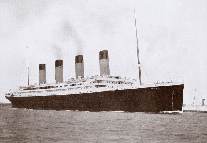 An archive photo of the Titanic, which sank at April 15, 1912 at 2:20 am after hitting an iceberg in North Atlantic.