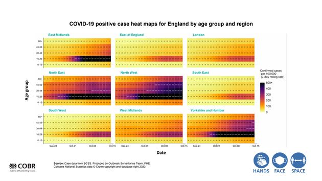 Government coronavirus data presented by Van-Tam at the No.10 briefing