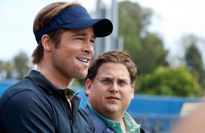 """Brad Pitt and Jonah Hill in """"Moneyball"""" on Netflix."""