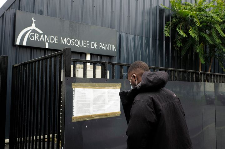 French Minister of Interior Gerald Darminin ordered the closure of the great Mosque of Pantin, pictured Tuesday, after it pos