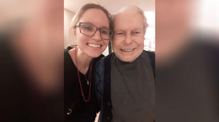 Emily Hladkowicz and her poppa, Heinz Ziebell.