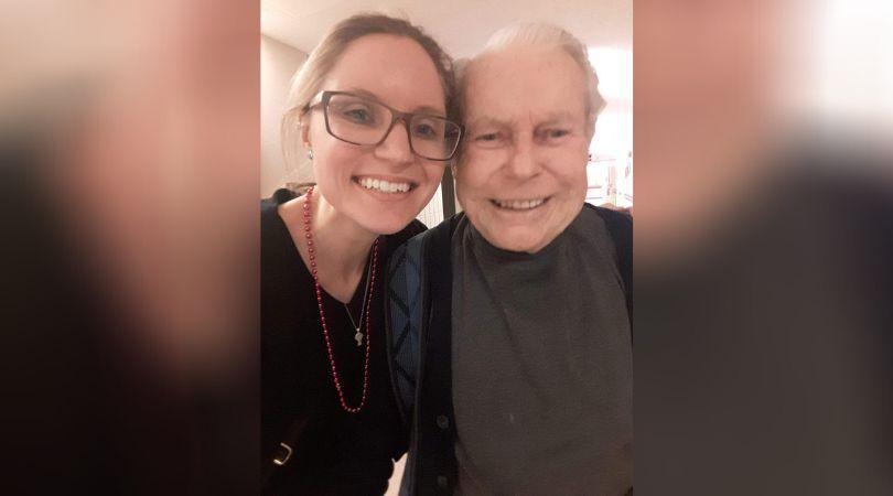 Emily Hladkowicz and her poppa, Heinz