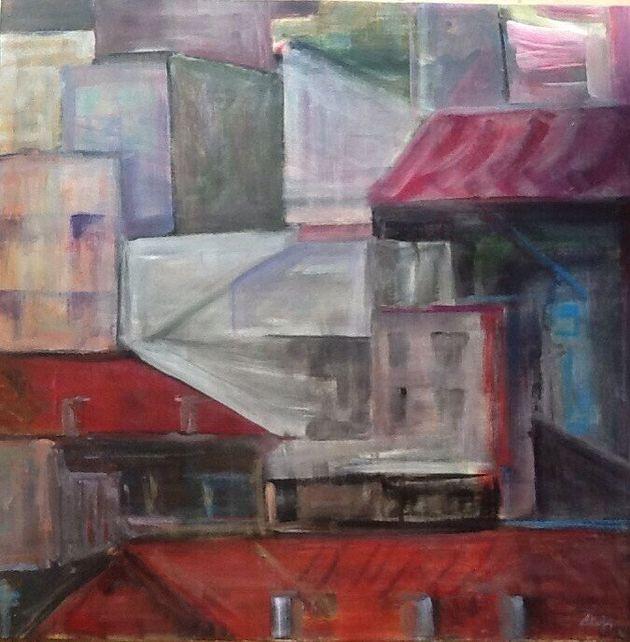 Εργο της Αθηνάς Χατζή από την έκθεση «Αστικά