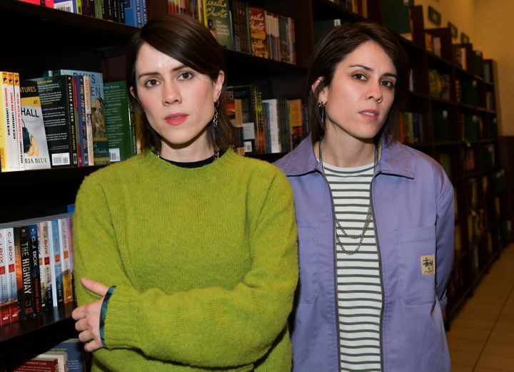 "Sara Quin and Tegan Quin celebrate their memoir ""High School"" on Sept. 26, 2019 in Los Angeles, California."
