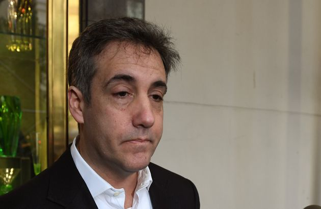 Michael Cohen, the former personal lawyer for President Donald Trump, leaves his Park Avenue apartment...