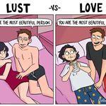 이 짧은 만화는 성욕과 사랑의 차이를 보여준다