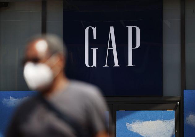 L'enseigne du magasin Gap à San Francisco qui a également définitivement fermé...