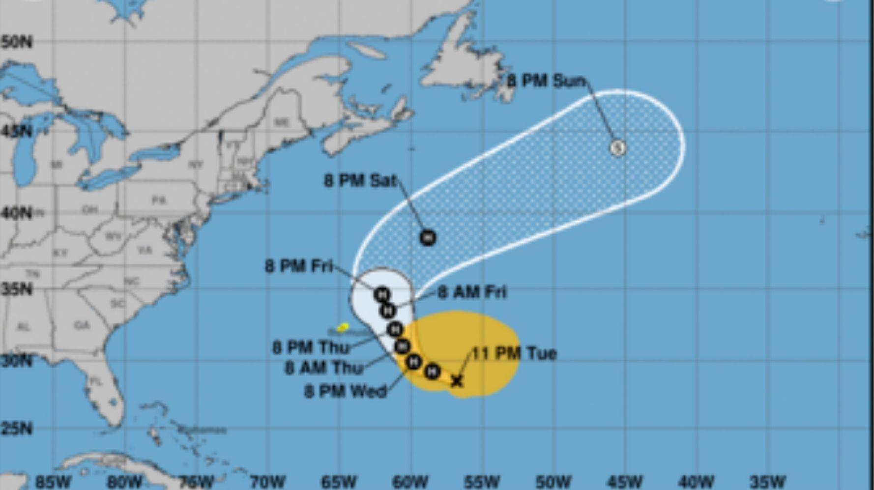 Epsilon Strengthens Into A Hurricane As It Approaches Bermuda