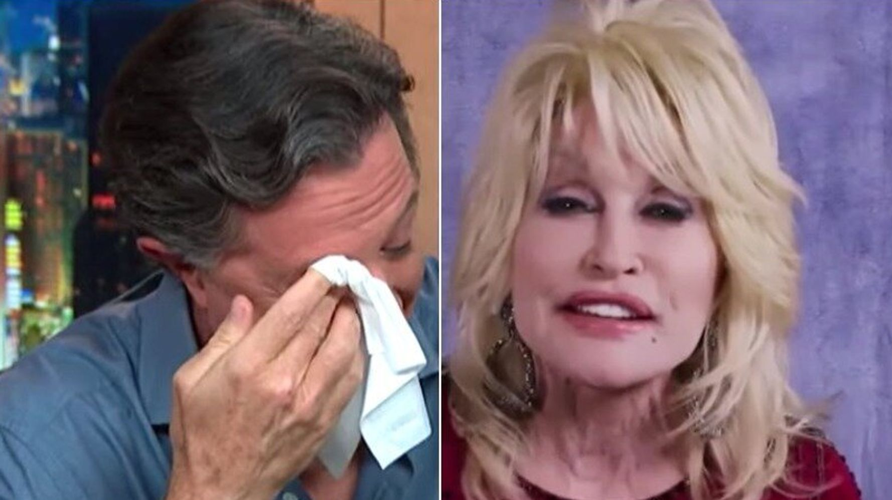 Dolly Parton Reduces Stephen Colbert To Tears With Haunting A Cappella Performance
