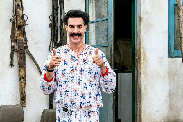 Sacha Baron Cohen reprising the character of Borat in newly released