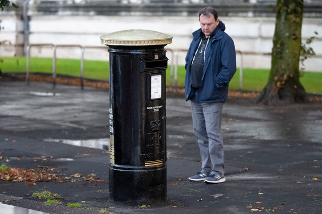 Four post boxes have been painted black to honour black Britons as part of Black History Month in