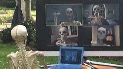 La déco d'Halloween s'adapte aussi au Covid, citrouilles et squelettes en