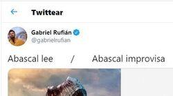 Rufián carga contra Abascal por no saber improvisar: dos fotos y 2.000 'me gusta' en diez
