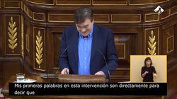 """El diputado de Teruel Existe sube a la tribuna, deja todo claro y genera un """"ohhhhh"""" en el"""