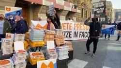 Ristoratori protestano davanti al Mef:
