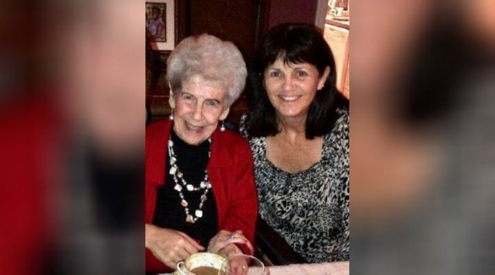 Cathy MacLean (right) and her mother Gillie, at age 93.