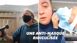 Cette vidéo d'une anti-masque vaut le