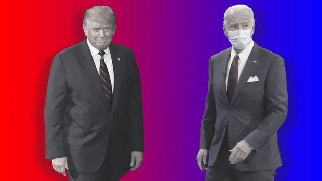 전문 재단사가 트럼프와 바이든의 수트핏을 꼼꼼하게