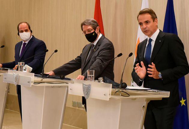 Κοινή Διακήρυξη Κύπρου-Ελλάδας-Αιγύπτου: Καταδίκη των παράνομων ενεργειών της