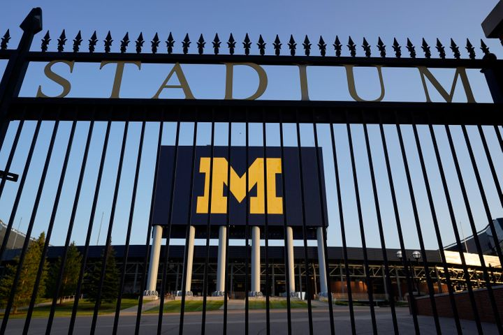 The University of Michigan football stadium is pictured in August. The stay-at-home order will not affect the university's sp