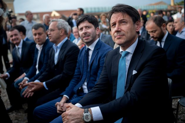 ROME, ITALY - SEPTEMBER 19: Italian Prime Minister Giuseppe Conte, Italian Minister of Health Roberto...