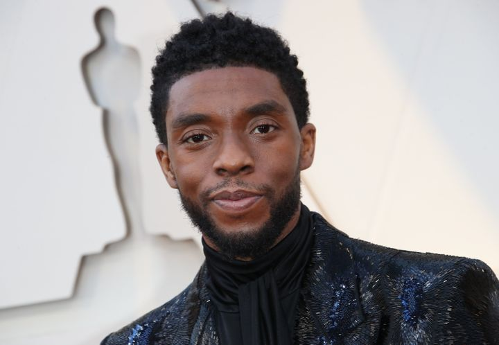 Boseman at the Academy Awards ceremony in Los Angeles in February 2019.