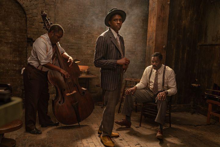 "Chadwick Boseman as Levee In Netflix's ""Ma Rainey's Black Bottom."""
