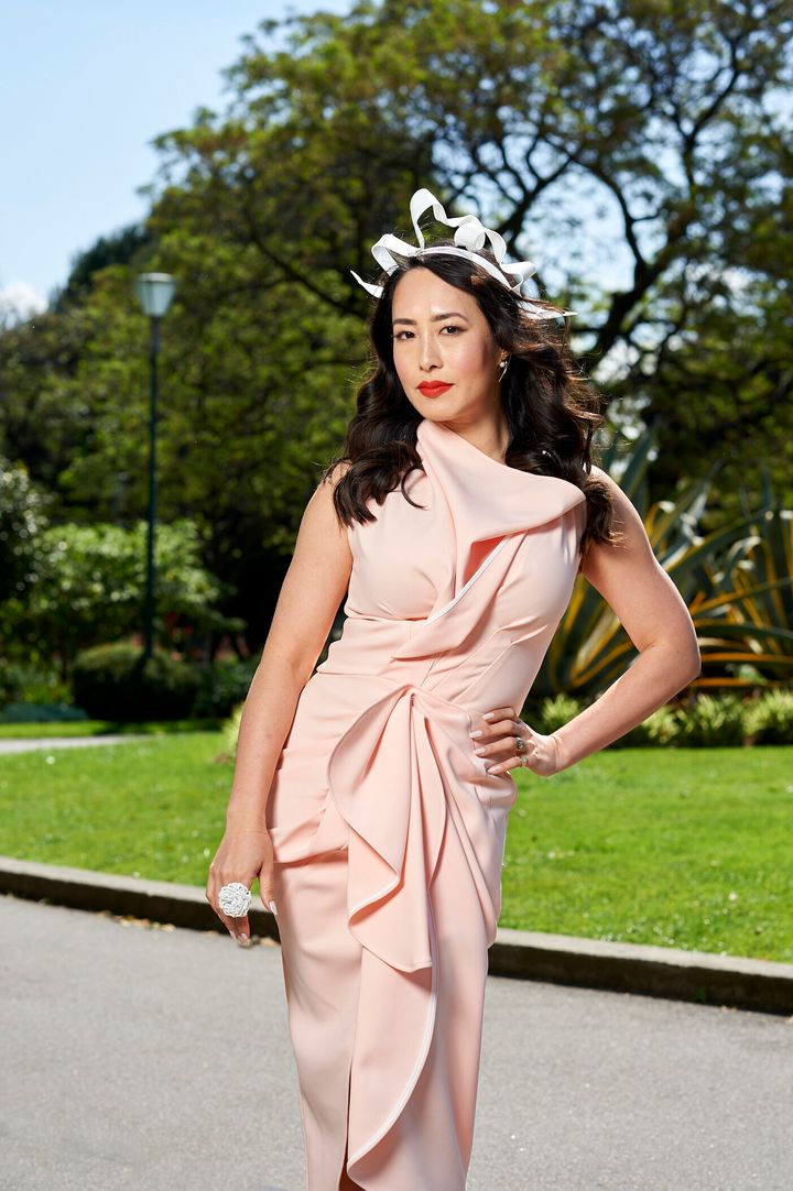 """'MasterChef Australia' judge Melissa Leong poses for <a href=""""https://www.lexus.com.au/senses-electrified"""" target=""""_blank"""" rel=""""noopener noreferrer"""">Lexus</a> after being announced as the luxury car brand's new ambassador ahead of the Melbourne Cup carnival"""