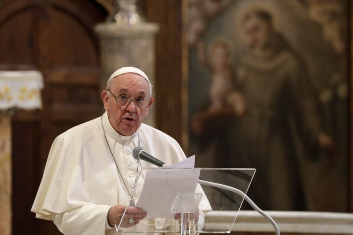 """What we have to have is a civil union law; that way they are legally covered,"" Pope Francis says about same-sex civil"