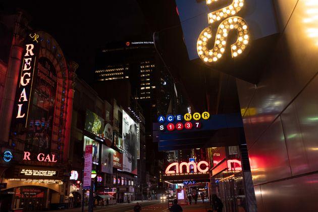 アメリカの映画館チェーン大手AMCの映画館。コロナ禍での経営難が報じられている。
