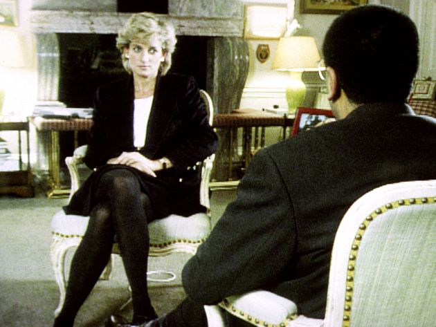 Diana, Princess of Wales, during her interview with Martin Bashir for the BBC, which is on a new chart...