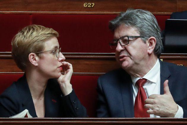 Clémentine Autain et Jean-Luc Mélenchon, photographiés à l'Assemblée...
