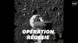 La Nasa publie des images de la sonde Osiris-Rex lors de son contact avec l'astéroïde
