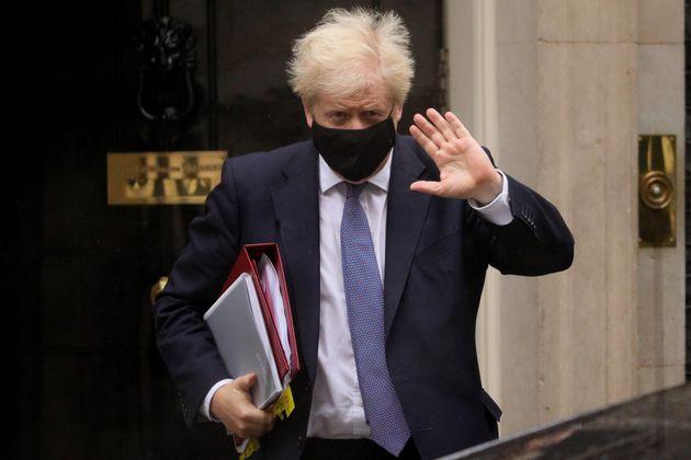 British Prime Minister Boris Johnson leaves 10 Downing
