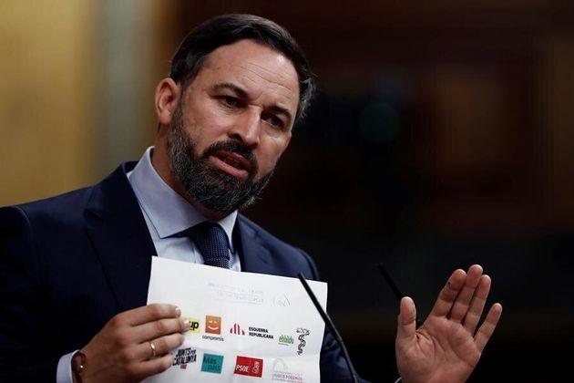 El líder de Vox, Santiago Abascal, este jueves 22 de octubre en el