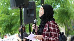 Militer avec un hidjab, comme marcher sur un fil de