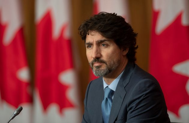 Prime Minister Justin Trudeau is seen during a news conference on Oct. 20, 2020 in