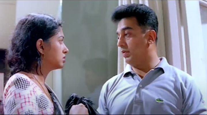 Gautami and Kamal Haasan in 'Kuruthipunal'.