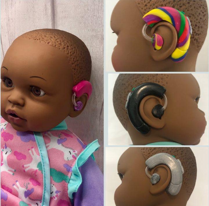 Each doll has a custom device.