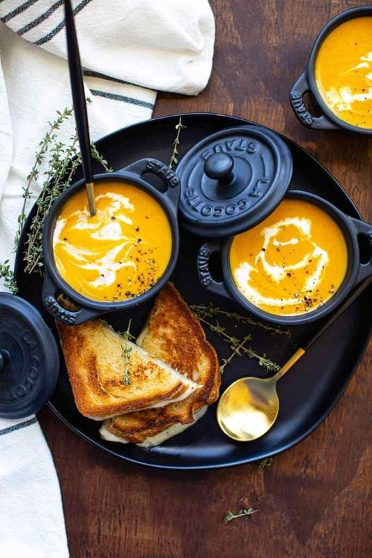 Roasted Butternut Squash Soup from Butter Be Ready