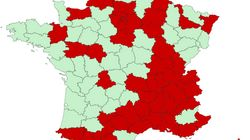 La carte des 54 départements désormais en