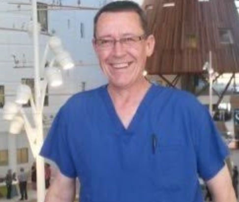 Graham Sabino, a clinical perfusionist who returned to the NHS from retirement to help out during the...