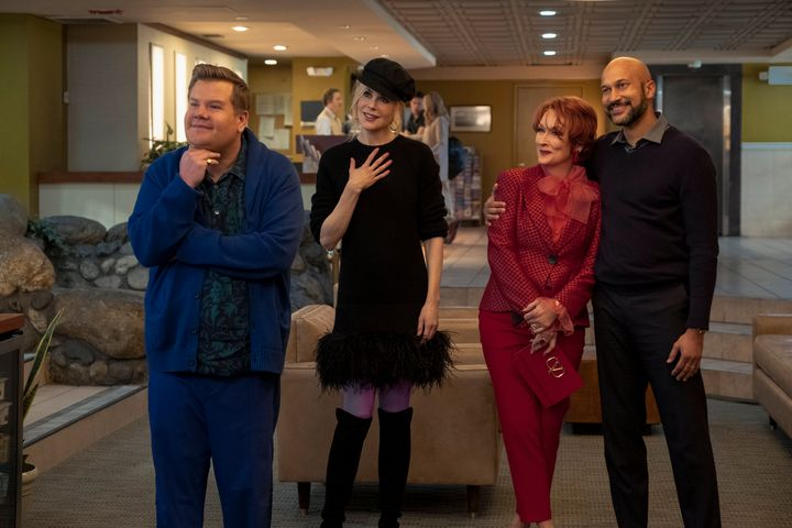 """The Prom"" stars James Corden, Nicole Kidman, Meryl Streep and Keegan-Michael Key."