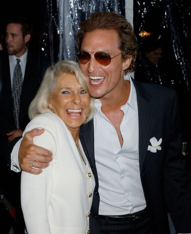Matthew McConaughey with his mother,