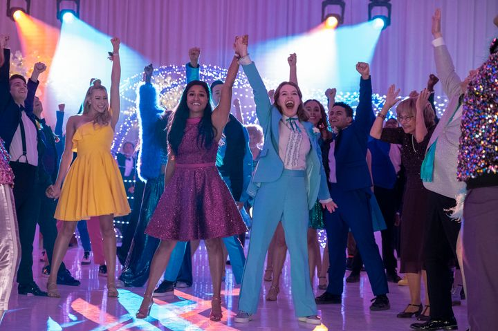 "Based on the 2018 Broadway musical, ""The Prom"" was loosely inspired by a number of real-life cases in which LGBTQ teens were"